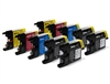 Brother Compatible Ink Cartridges - LC1240 / LC1220 CMYK/K - 10 item Multipack