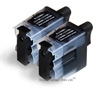 2 x Brother Compatible Black Ink Cartridges - LC09Bk / LC41Bk /  LC47Bk / LC900Bk / LC950Bk