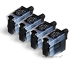 4 x Brother Compatible Black Ink Cartridges - LC09Bk / LC41Bk /  LC47Bk / LC900Bk / LC950Bk