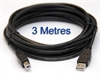 USB 2.0 Cable 3 Metres long with A to B connections