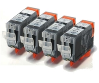 4-Pk Canon Compatible Black Ink Cartridges - BCI-3BK