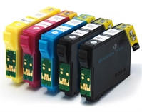 T1281 T1282 T1283 T1284 - Epson Compatible 5 Item Multipack Ink Cartridges Fox Series T1285 + T1281