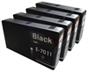 T7011 / E7011 x4 - Epson Compatible Black XL Ink Cartridges