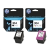 HP 304 Black & Colour Multipack Original Printer Ink Cartridges - HP304 3JB05AE