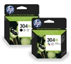 HP 304 High Capacity Black & Colour Original Printer Ink Cartridges - HP304XL N9K07AE N9K08AE