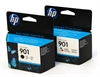 HP901 Black & Colour Original Printer Ink Cartridges - 2 item pack