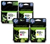 HP932XL Black  & HP933XL Cyan, Magenta & Yellow Original High Capacity Ink Cartridges - 4 item pack