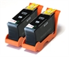 Lexmark Hi-Capacity Compatible Black Ink Cartridges - Twin Pack - 100XL