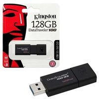 Kingston 128GB USB Flash Drive - Data Traveler USB 3.1 / 3.0 / 2.0