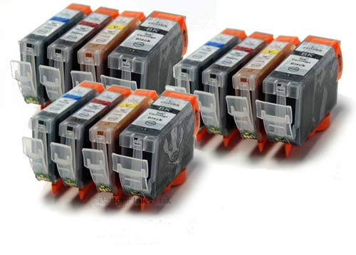 Canon Compatible Ink Cartridges - 12 Item Multipack