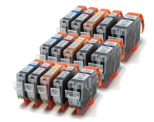 Canon Compatible Ink Cartridges - 15 Item Multipack