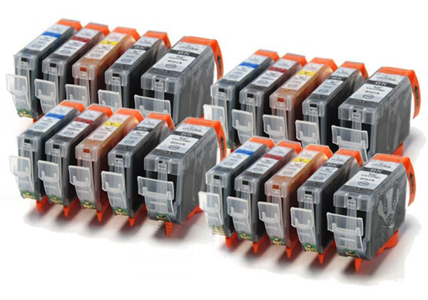 Canon 525 / 526 - 20 Item Multipack Canon Compatible Printer Ink Cartridges - PGI-525 / CLI-526 CMYK