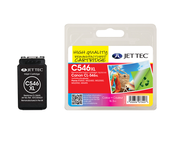 CL546XL Colour High Capacity Remanufactured Printer Ink Cartridge CL-546XL