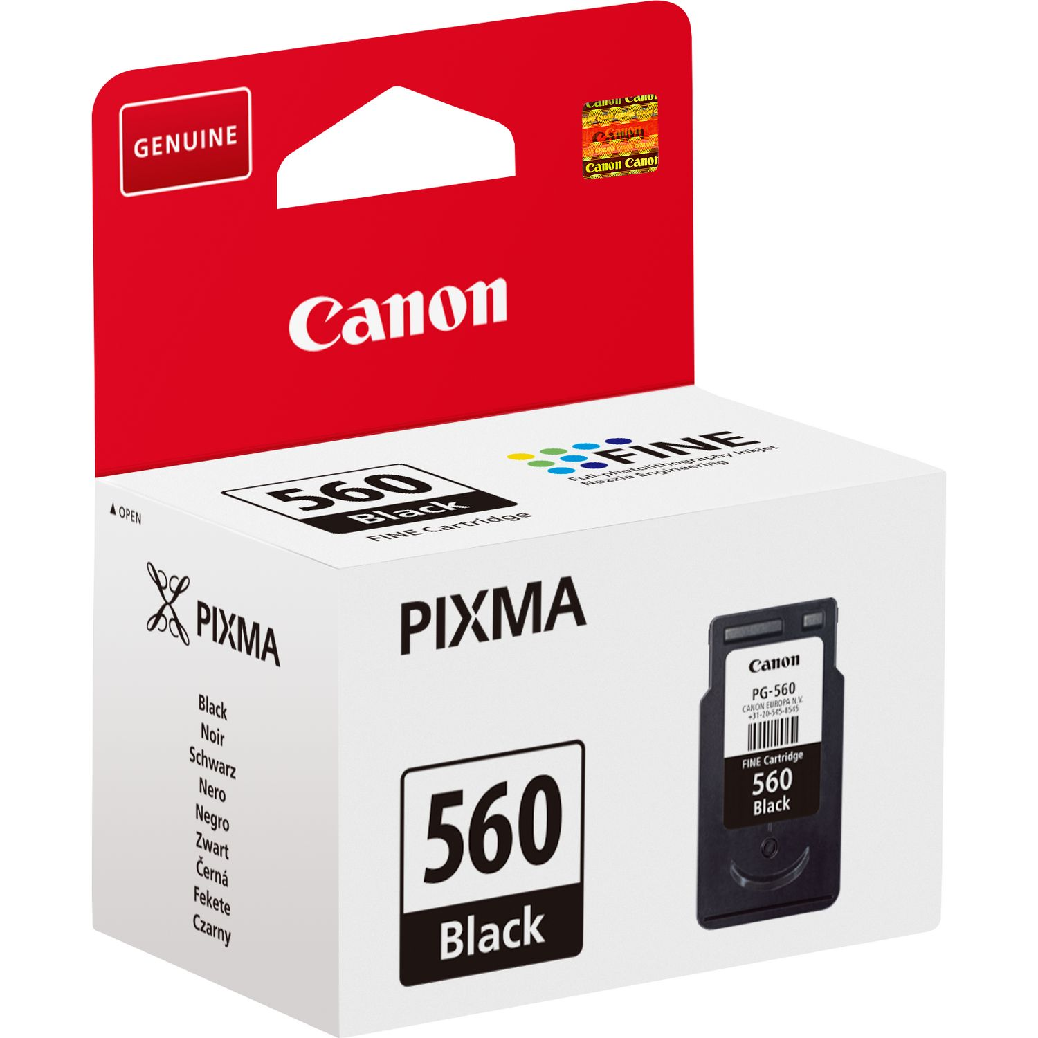 PG560 Black Original Canon Printer Ink Cartridge PG-560