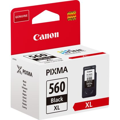 PG560XL Black High Capacity Original Canon Printer Ink Cartridge PG-560XL