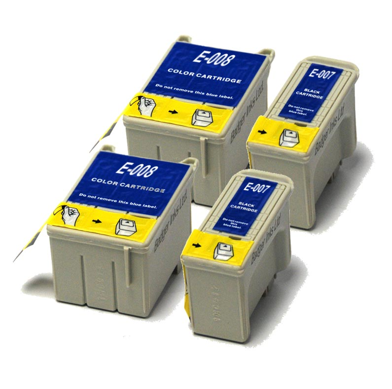 Epson Compatible Ink Cartridges - 4 item Multipack T007 / T008