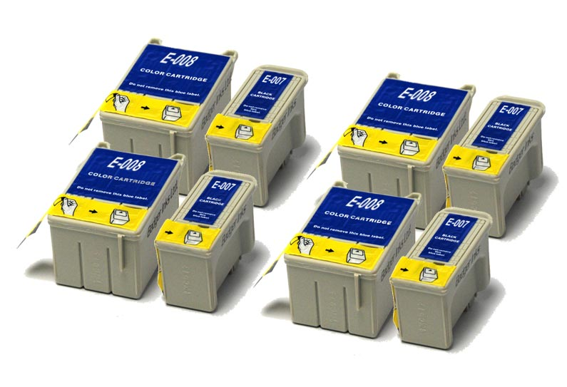 Epson Compatible Ink Cartridges - 8 item Multipack T007 / T008
