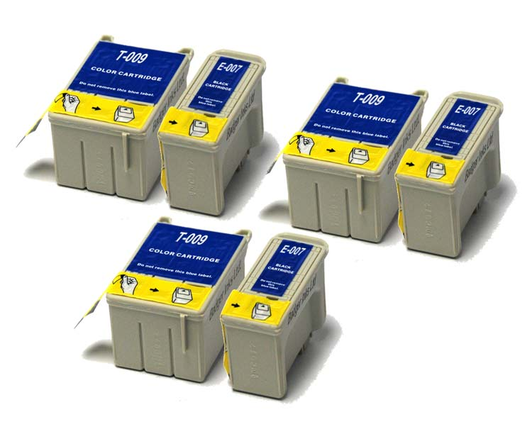 Epson Compatible Ink Cartridges - 6 item Multipack T007 / T009